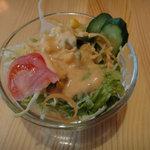 ニューカトマンズキッチン - ランチのサラダ
