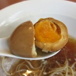 中華そば 七麺鳥 - 味玉の茹で加減