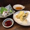 舟よし - 料理写真:いわし酢じめとはも天ぷら