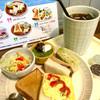 にじいろcafe - 料理写真:アイスコーヒー¥420 にじいろモーニング(2017/7現在)