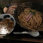 三ツ矢堂製麺 - 全盛りマル得鶏つけそば(細麺・大盛り・冷もり)