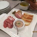 熟成肉バル イチノミヤウッシーナ - おまかせ3種盛り合わせ