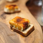 70424635 - フォアグラのブリュレ エスプレッソのパン