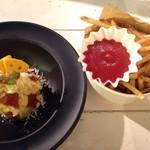 キリンガーデン - チーザーポテサラ¥600とフライドポテト