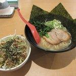 我流らーめん 心瀧 - 料理写真:我流らーめん+ねぎ肉めし2017.07.22
