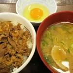 すき家 - 牛丼&とん汁たまごセット