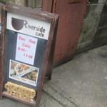 リバーサイドカフェ - 日曜朝、CooReeCafe看板