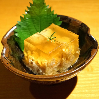 石臼挽き手打蕎楽亭 - 料理写真:ハモ子の煮こごり