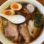 ヱビスヤ - ワンタン麺 950円 大盛り 170円 煮玉子 100円