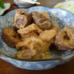 犬若食堂 - マグロもつ煮