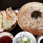 魚峰庵 - 料理写真:天ざるそば 1,250円 2017/07