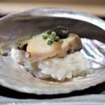 70438361 - 煮鮑 スッポンスープで炊いたおかゆ
