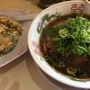 いせや - 料理写真:濃厚:醤油中華そば + ミニ焼飯