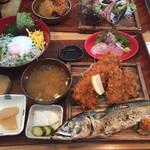 平塚漁港の食堂 - 店長オススメ定食