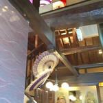 咲椀 - 唐傘が彩られた天井♪