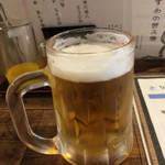 とりいちもんじ - ドリンク写真:生ビール