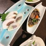 函館海鮮居酒屋 魚まさ - ナマコ酢にいかゴロルイベ