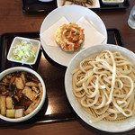 麦の蔵 - 「いなか汁うどん 小盛」780円と「野菜かき揚げ」140円