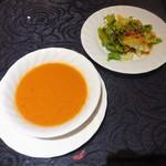 70451241 - ランチ:スープ、サラダ
