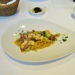 70452558 - 枝豆と海老とドライトマトとポルチーニ茸のスパゲッティーニ