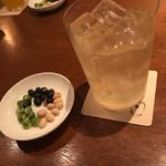 ツキノワ料理店 - 柚子ハイボール