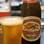 備中手打ちうどん おおにし - ドリンク写真:当然のビールからのスタートです、今日は2本です(2017.7.23)