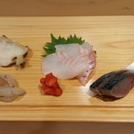 鮨 歴々 - 料理写真:お刺身5品