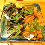 かもん亭 - ウツボ、青のり、サツマイモの唐揚げ