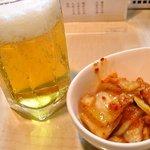 自家製麺 亀八 - ビール