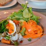 cafe nei - 料理写真:野菜のてりやきライス+サラダ♡