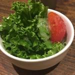 茄子おやじ - ディナーセットのサラダ