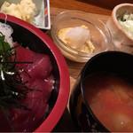 呑み食い処 源ちゃん - まぐろユッケ丼定食
