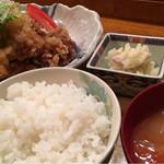呑み食い処 源ちゃん - 鶏からポン酢定食