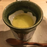 旬美にしかわ - 茶碗蒸しの上に海老の出汁がかけてあります。