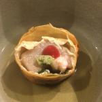 旬美にしかわ - 中に胡麻豆腐が入ってます