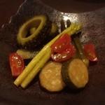 酒肴や 治流 - 夏野菜の揚げ浸し