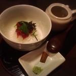 酒肴や 治流 - 南高梅と塩昆布のお茶漬け