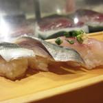 板前寿司  - あじ、こはだ、しめ鯖