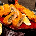 Tonkatsuhamakatsu - 梅しそ巻きアップ