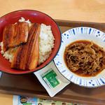 すき家 - 特うな丼と牛皿並盛