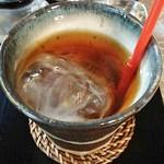 ギャラリーアンドカフェ 草画房 - アイスティ。半分氷でした(+o+)