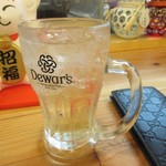 須崎屋台かじしか - この日はハイボールを中心に飲んでみました。