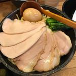 70477690 - 濃厚鶏白湯つけ麺 トッピングと麺