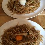 あぺたいと酒場 - 中+温玉と中+生卵