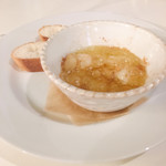 東京ベリーニカフェ - ビアガーデンプラン の 海老のアヒージョ