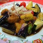 餃子の王将 -  夏野菜の黒酢酢豚