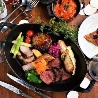 [ステーキグリル]炭火で焼き上げるジューシーな肉料理