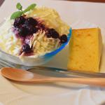 こだわりランチのお店 トライム - クリームチーズふわとろアイス+シフォンケーキ