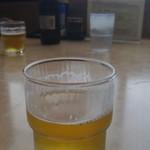 笠そば処 - 瓶ビールで喉を潤します♪