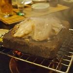季節料理 魚喜 - ゲソの天ぷらではなく➡焼き